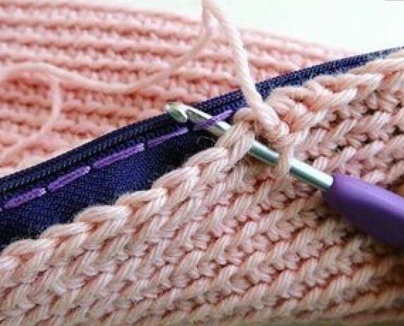 Como tecer um zíper em um saco de lã sem costura