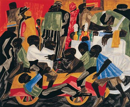 Summer Street in Harlem. Jacob Lawrence. Harlem Renaissance.