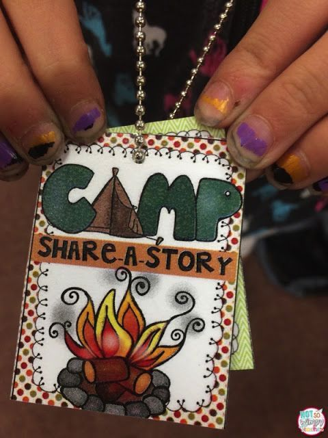 Camp Share-a-Story.  Classroom Camp out (and a FREE brag Tag!)  great ideas for an awesome class camp day.