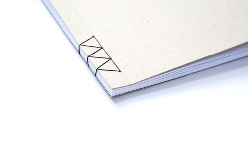 Minimalist #bookbinding with a variation of Japanese stab stitch by graciela