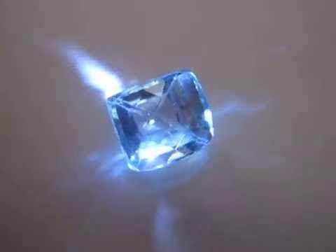 Batu Permata Topaz Rectangular 6.15 carat Warna Ice Blue