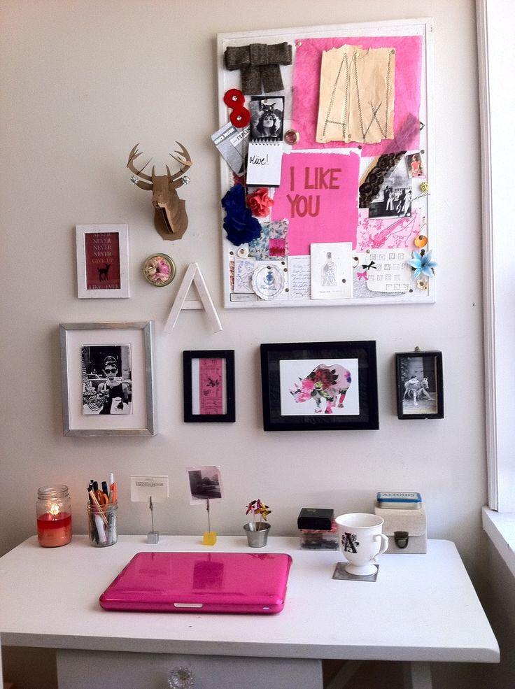 Wall decor above desk. | Diy | Pinterest