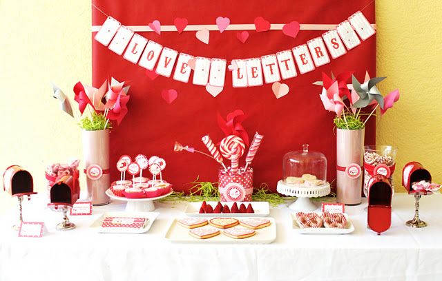 love letters themed party