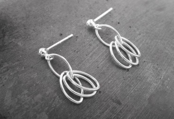 sterling silver earrings by Kim Mitchell