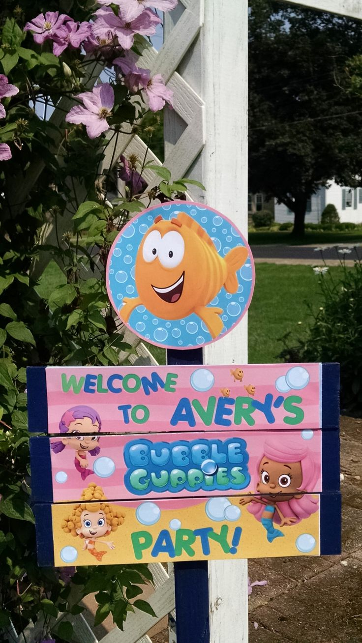 Bubble Guppies Birthday Yard Sign by TickleMeParty on Etsy https://www.etsy.com/listing/201639480/bubble-guppies-birthday-yard-sign