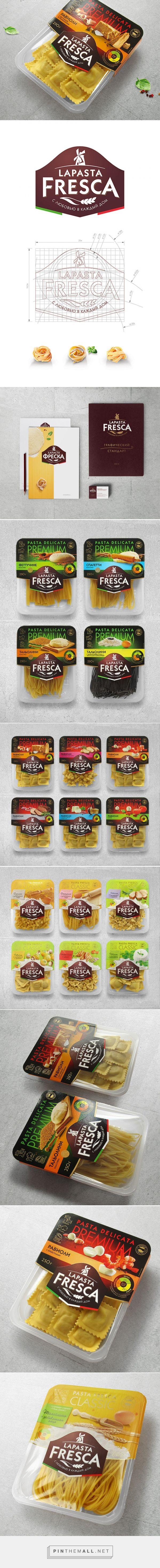 La Pasta Fresca packaging designed by Star Design Studio - http://www.packagingoftheworld.com/2015/09/la-pasta-fresca.html