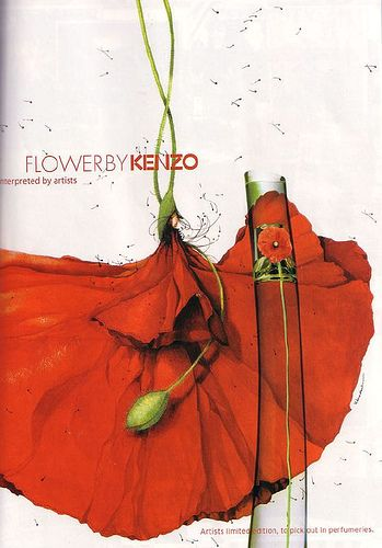 "Rebecca Dautremer ""Flower "" de Kenzo mon parfum"