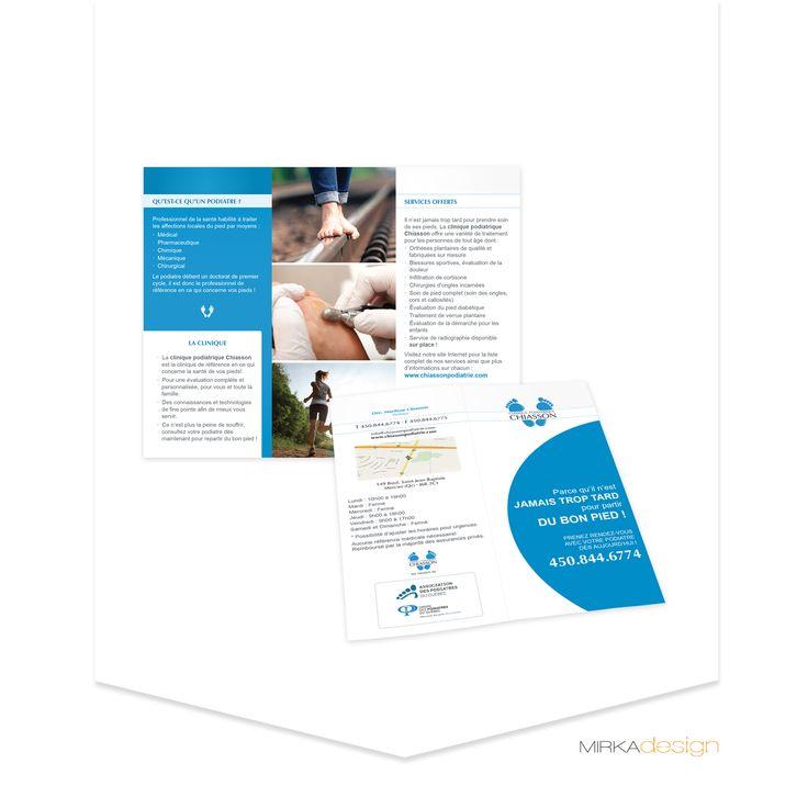 Flyer pour la Clinique Podiatrique Chiasson
