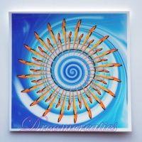 Meditatiekaart Waterwave 9 x 9 cm - www.droomcreaties.nl