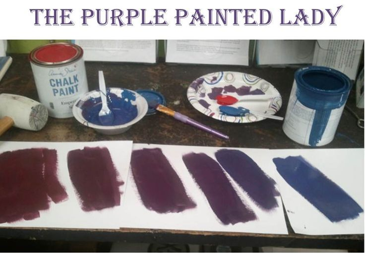 The Purple Painted Lady - Emperor's Silk recipe into Periwinkle CHALK PAINT
