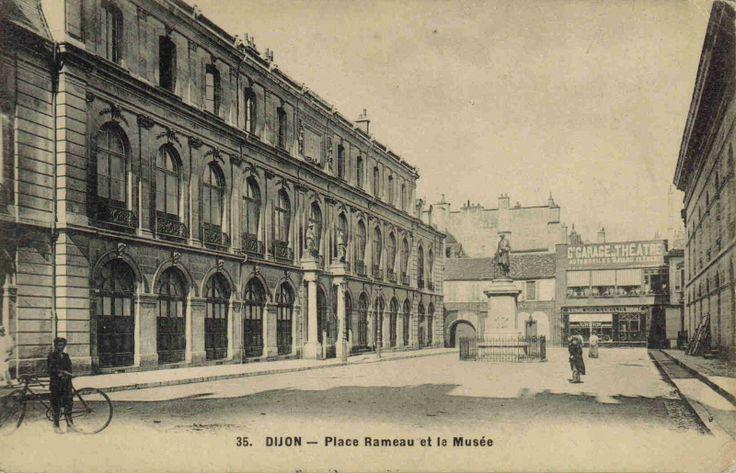DIJON Beaux-Arts museum and Rameau place 1900