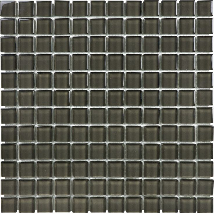"35-054 1""x1"" Element Carbon - Element Glass Mosaics - www.anatoliatile.com"
