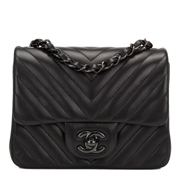 Chanel Mini Flap So Black Chevron Bag  chanel  e05f21030