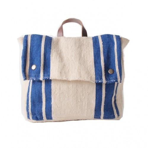 Bobo Choses School Bag Wool Blue // poppyscloset.com