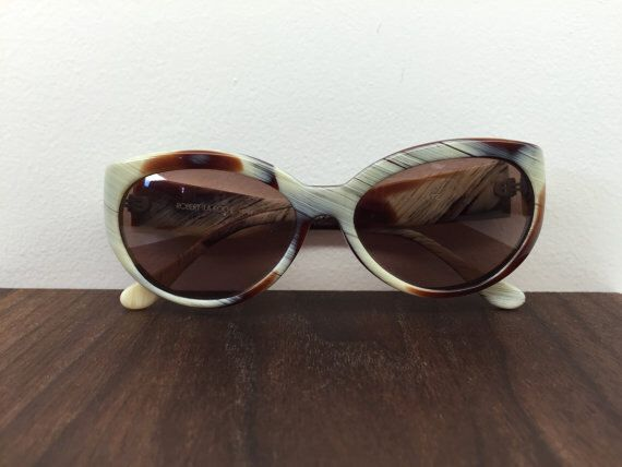 1990's Ivory and Brown women's sunglasses by Robert La Roche by blackandbluevintage on Etsy https://www.etsy.com/listing/223806421/1990s-ivory-and-brown-womens-sunglasses