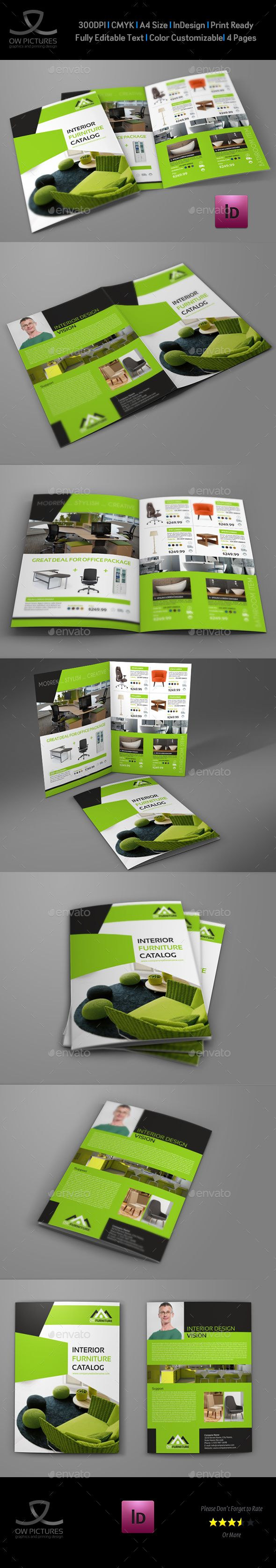 furniture products catalog bi fold brochure