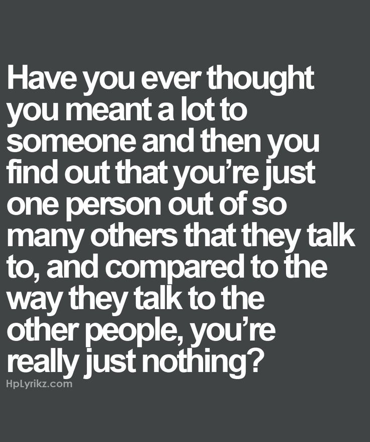 Well, now that you made me think about it.. ikr?