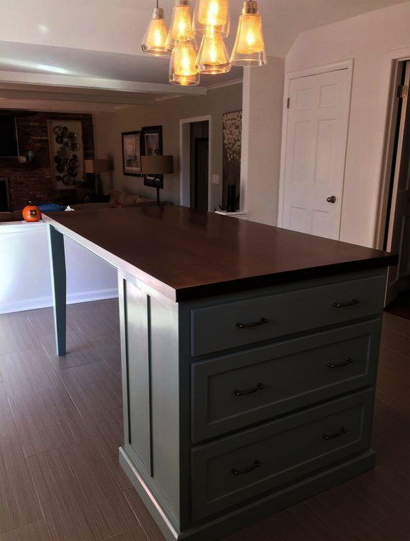 Prepac Tall 6 Drawer Chest Kitchen Island With Seating
