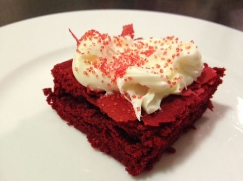 Red Velvet Brownies Made With Cake Mix