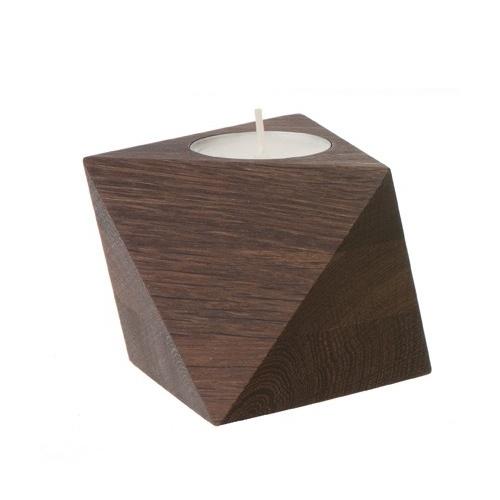 CASANOVA Møbler — ferm LIVING - Cube fyrfadsstager - Smoked Oak