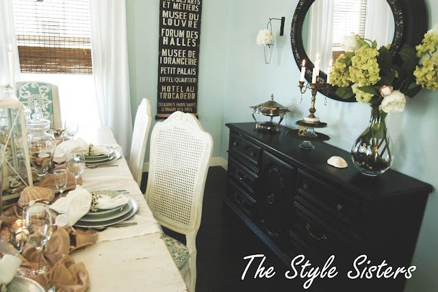 Pretty Dining Room: Wall Colors, Stores Dining, Bedrooms Colors, Thrift Stores Finding, Stores Dressers, Dining Rooms Lov, Stores Buffet, Colors Schemes, Bedrooms Wall