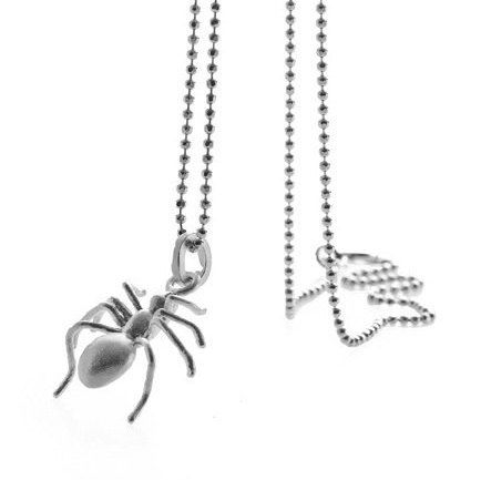 Spider pendant and chain by BugsAndAnts on Etsy