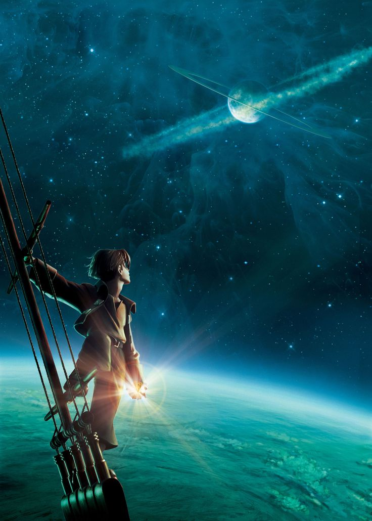 Treasure Planet - a great explosion shook deep within the core, spewing detritus high up into the atmosphere, where it formed the first great ring we see today.