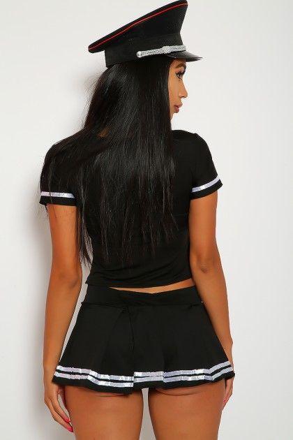 fd98df2a7fe0f5d63f51d815c7248405 - Naughty Black 2 Pc Police Playmate Costume #AD , #Affiliate, #Pc, #Black, #Naugh...
