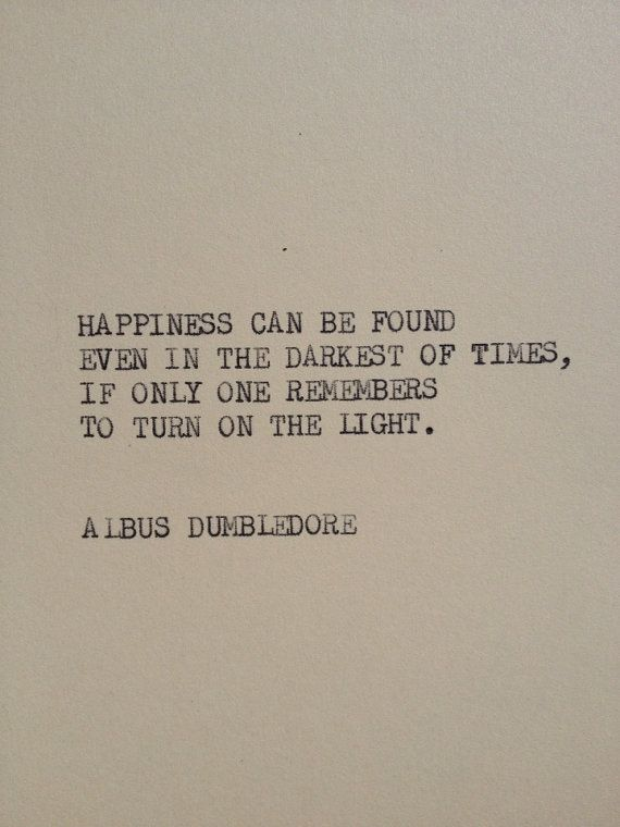 THE ALBUS DUMBLEDORE Typewriter quote on 5x7 by WritersWire, $5.00