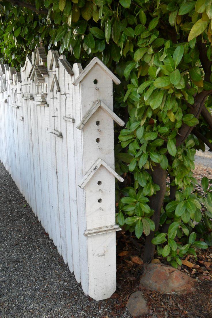 Birdhouse fence.  Love it!