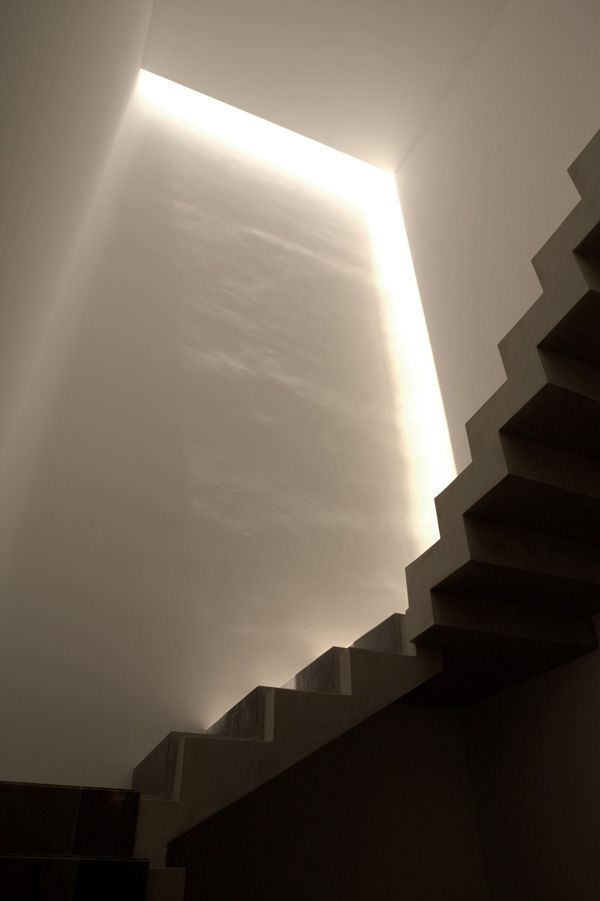 Staircase near monolithic wall, Ozuluama Residence by Architects Collective & at103 #architecture