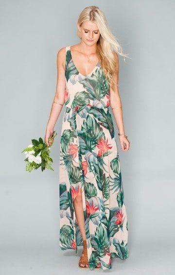 vestidos hawaianos para mujeres elegantes