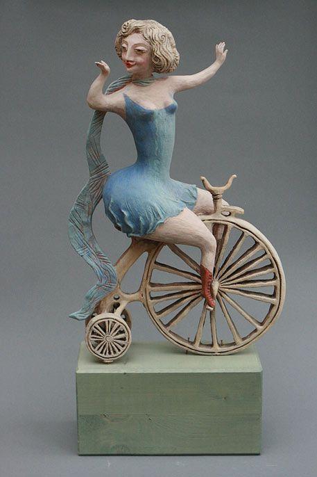 Clay figurine artists from Abramtsevo Elya Yalonetskaya ;