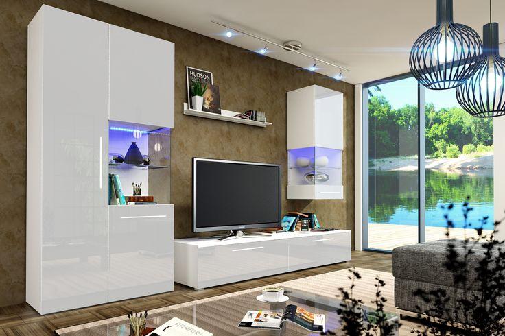 Die moderne Wohnzimmerwand Nice I vereint die Eleganz desitalienischen Designmit anspruchsvoller Verarbeitung hochwertiger Materialien. DieHochglanz Fronten in Weiß veredeln jedes Wohnzimmer. Die...
