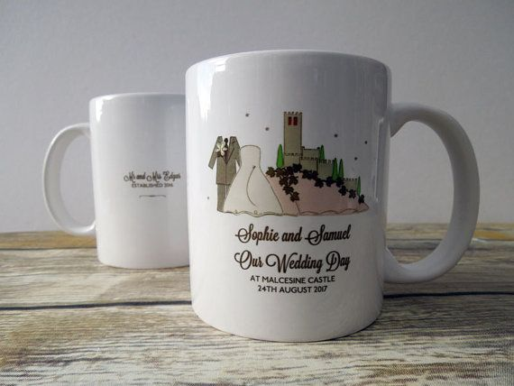 Malcesine Castle Wedding Day Coffee Tea Mug by bunnydelicious