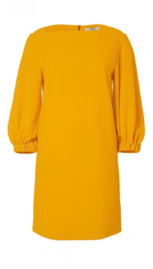 Structured Crepe Boatneck Dress