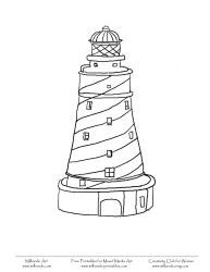 printable lighthouse coloring pages for mixed media art