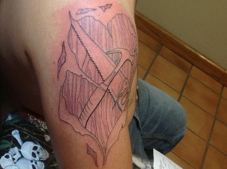 Tattoo, not done yet though, carpenter tattoo | Tattoo ...