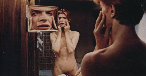 David Bowie While young as Thomas Jerome Newton in The Man Who Fell to Earth 1976