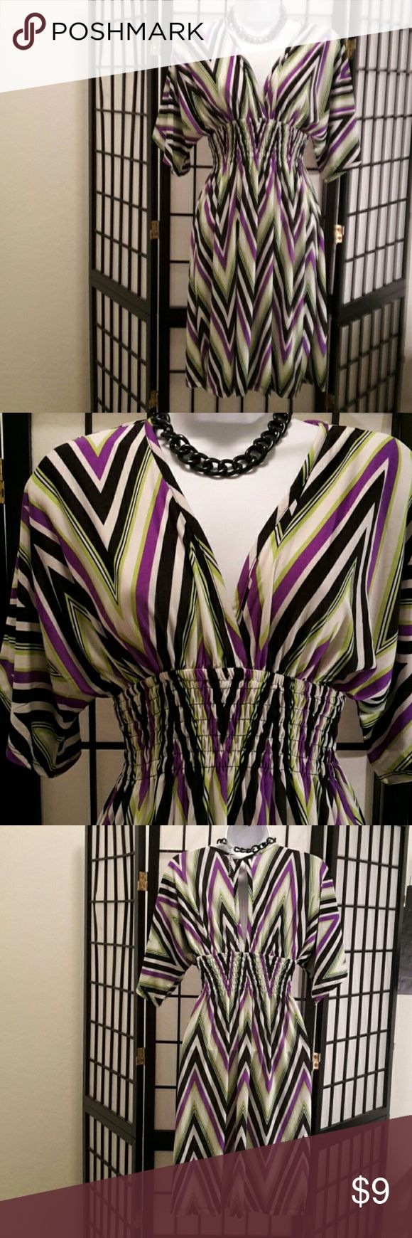 *NWOT*Cristinalove Multi-color Short Maxi Dress Striped, Lightweight, Keyhole Back, Gather Waist, A-Line, Flare, Stretch, 95% Polyester 5% Soandex, New Without Tag, Never Worn, Deep V-neck, Accessories not included. Sorry No trade. I will consider reasonable offers. Thank you for sharing my closet, I will ALWAYS show you Posh Love ❤ by doing the same💓 Cristinalove Dresses
