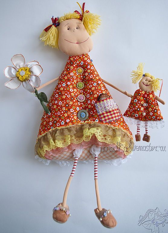 Funny fabric doll / Купить Привет, меня зовут Вероника) - кукла, интерьерная кукла, текстильная кукла, девочка, сестрёнка