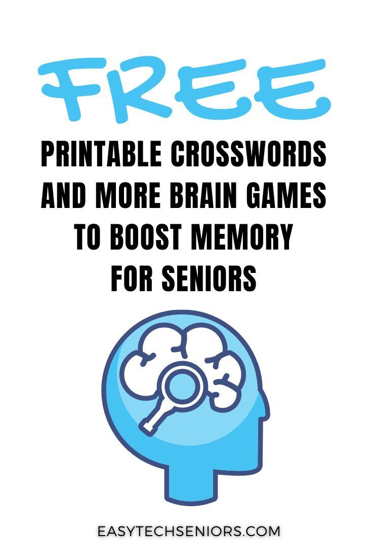 Free Printable Brain Games to Boost Memory for Seniors