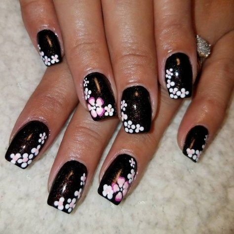 Top 40 Trending Black Nail Designs 2018