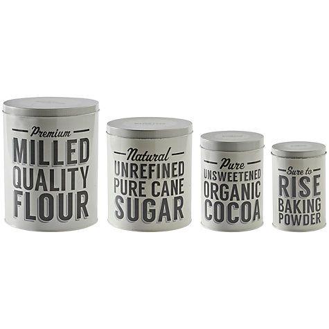 Buy Mason Cash Baker Street Nesting Storage Tins, Set of 4 Online at johnlewis.com