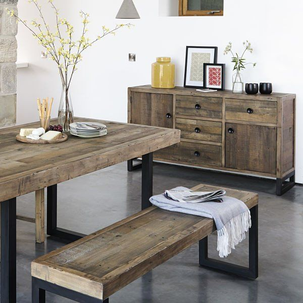 industrial reclaimed wood furniture. standford industrial reclaimed wood large sideboard furniture