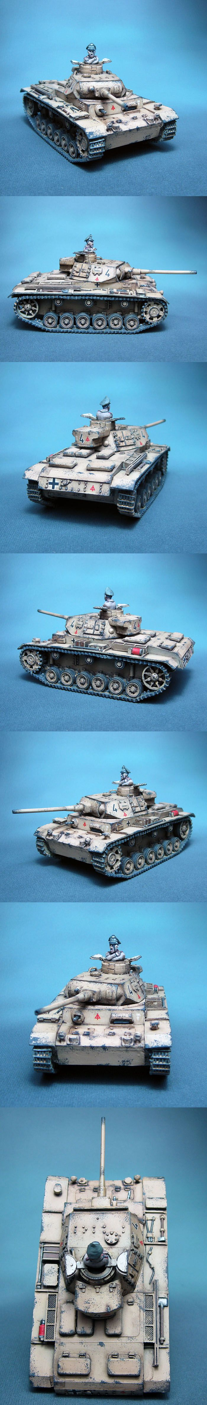 PzKpfw III Ausf J 15. PzD Afrika Korps Scale: 1/56(28mm) Manufacturer: Warlord Games UK Game: BOLT ACTION Painted by: OMP(Olsianon Miniatures Painting)