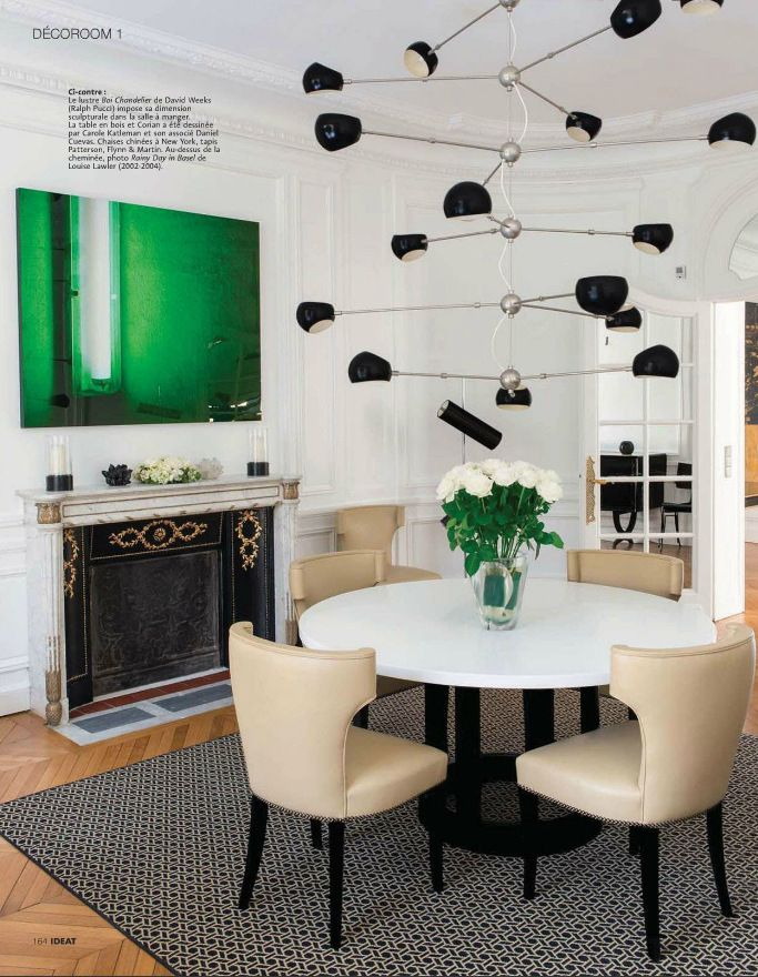 Mid Century Modern dining room with the coolest chandelier ...