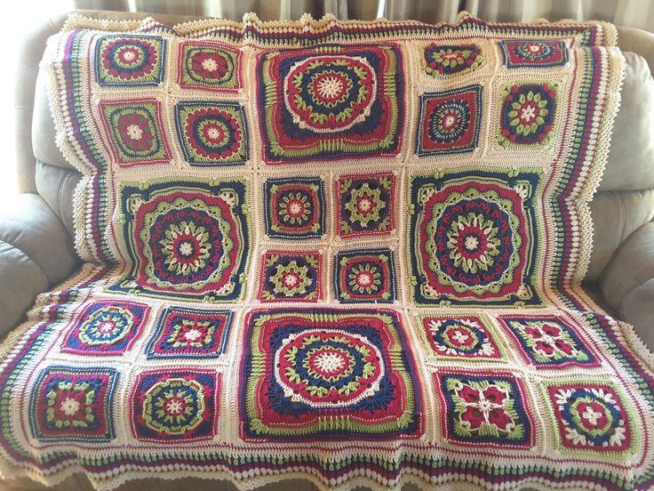 Crochet Seaside blanket pattern by Zelna Olivier
