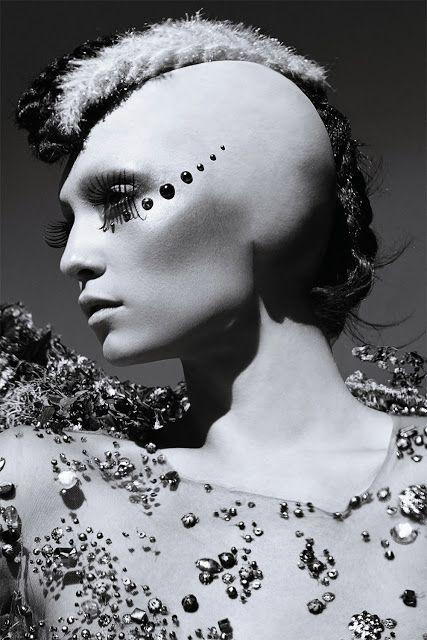 Futuristic mermaid. Creaxcion for TwistedLamb. Makeup by Ryan Burke.