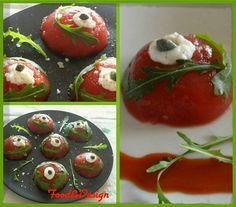 #cuciniamonaturale : Gelatina di pomodoro #Passata #Vellutata #Valfrutta acqua colla di pesce #Pepe, #olio evo, #sale grosso #Rucola www.valfrutta.it/ricette/cuciniamo-naturale